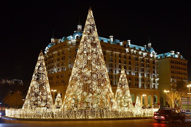 Baku among CIS countries with highest New Year trees