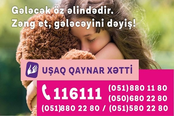 """Children Hotline"" service supported by Azercell received 5061 queries throughout 2019"