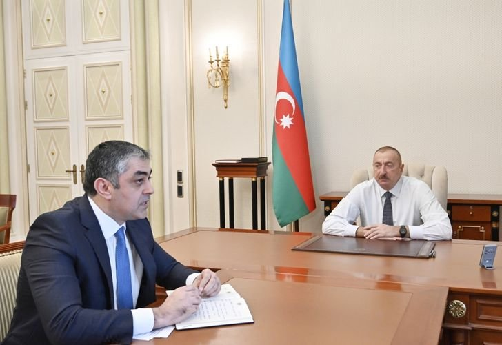 President Ilham Aliyev receives Minister of Transport, Communications and High Technologies