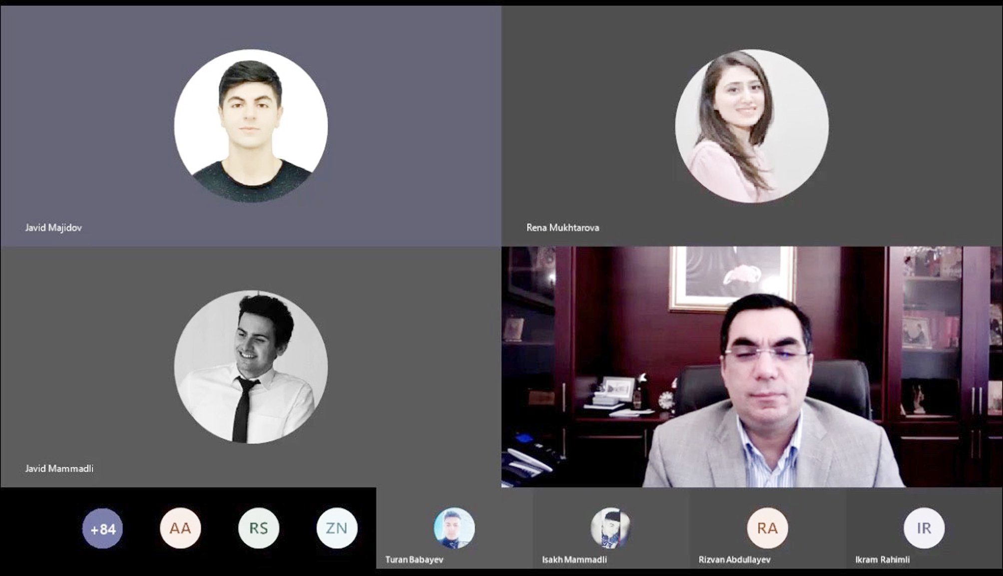 Rector Elmar Gasimov holds online meeting with students