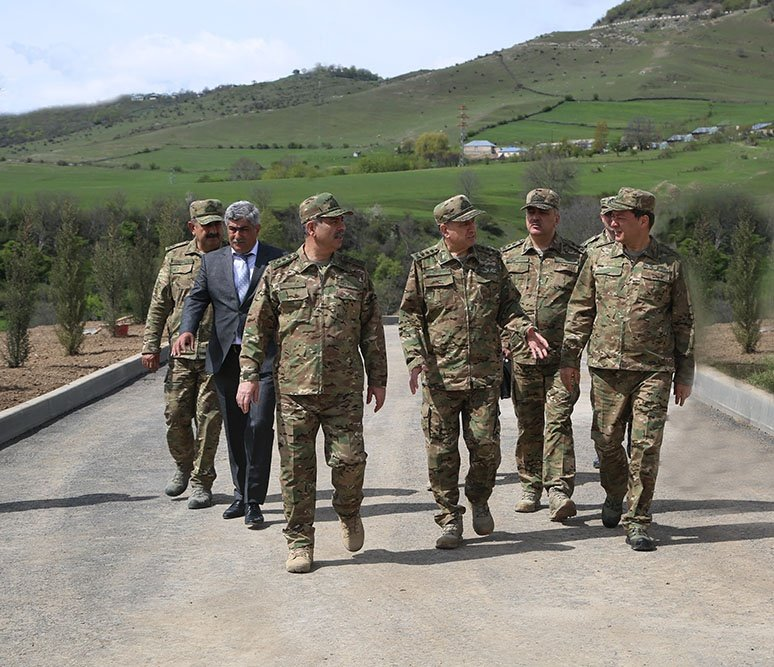 The military unit in the frontline zone the construction of which is being finalized was inspected