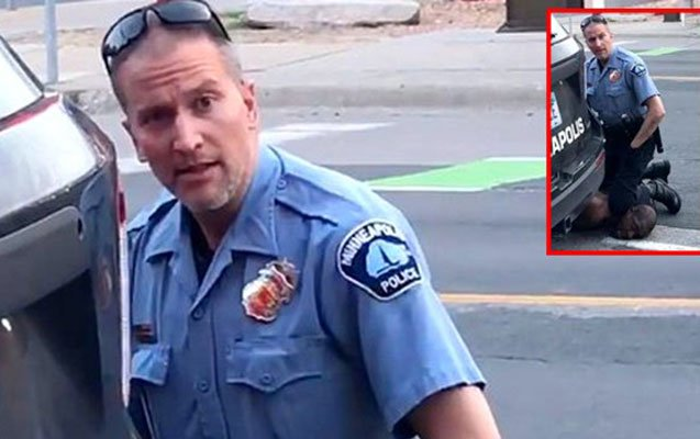 Minneapolis cop who knelt on handcuffed black man arrested