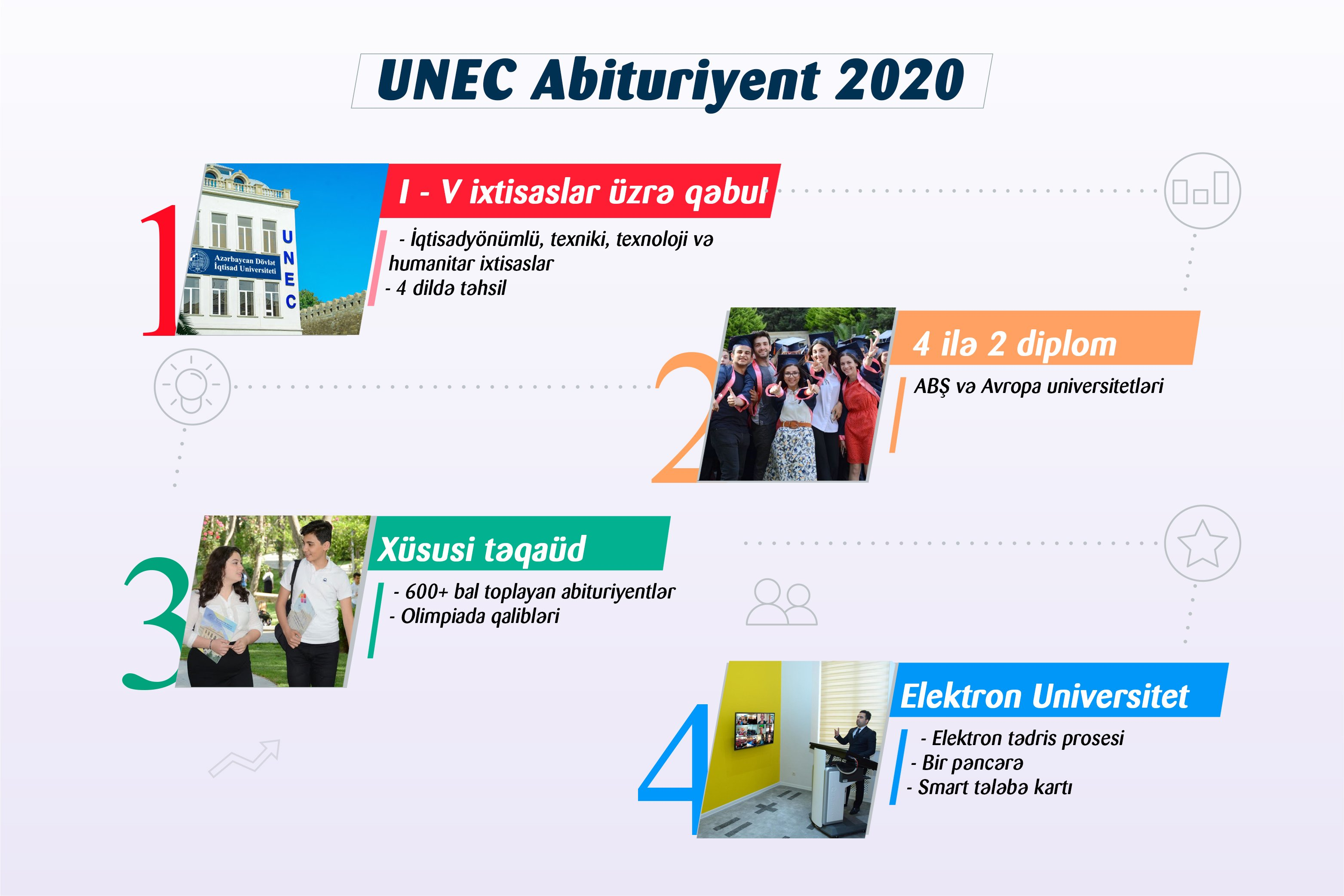 UNEC admits students on 5 specialty groups