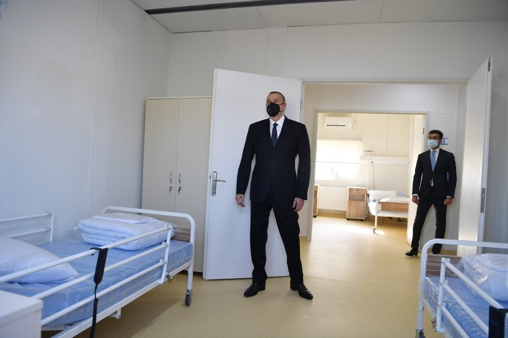 Modular hospital for treatment of coronavirus patients opened in Gobustan - PHOTO